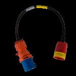 Adaptorkabel 16A 230V 3P CEE-DK