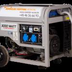 Generator 3 KW 3P 230V med AVR