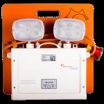 Nødstrømsanlæg med 2 stk. paniklamper 2 x 55W