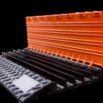 Overkørselsrampe med låg MIDI - Længde 90 x 55 cm vægt 12kg