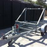 Kabeltrailer med nummerplade 3000 kg - til tromle