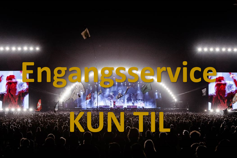 Roskilde Festival Rental - Engangsservice med pant, KUN Roskilde Festival