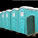 Flaklad med 10 toilet
